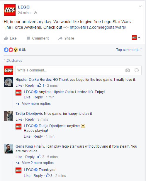 Lego Star Wars official proof-fb