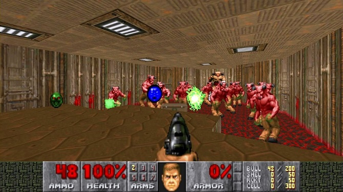 doom(1993) gameplay