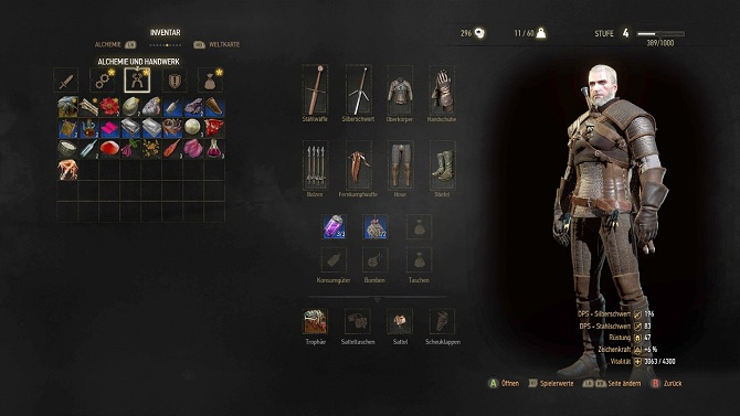 the witcher 3 wild hunt customization screen